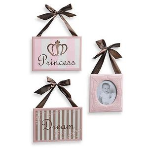 Cocalo Canvas Wall Art 3pc Princess Picture Frame